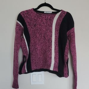 T Alexander Wang Purple Striped Sweater